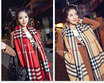 【Ready Stock + Fast Shipping with Quality assured】Korean Style Plaid Cashmere Wool Scarf/Shawl/Wrap/