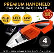 ★SG Seller★Best Selling★Premium Handheld Car Vacuum Cleaner 120W 12V 4000PA Suction Wet/Dry with LED