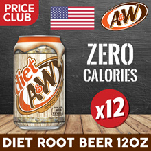 A and W Root Beer Diet USA 12oz (12 BUNDLE DEAL)