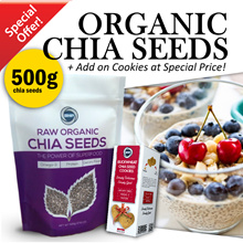 ★ 500g Raw Organic Chia Seeds from South America/Cookies/Healthy Food/Slimming/Weight/Diet/Digestion