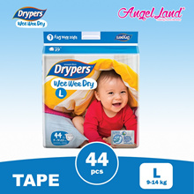 Drypers Wee Wee Disposable Jumbo Tape Diaper-NB64/S58/M52/L44/XL36/XXL32 ( 1 Pack )