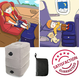[Lowest Price in Qoo10!!] 🚗✈️🚝 Inflatable Adjustable Footrest pillow Travel Bed for Airplanes Car