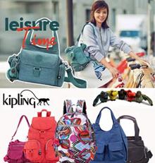 【Canvas Fashion】KIPLING 100% authentical Nylon Canvas Backpack/Kipling // Sling Bag/