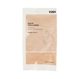 [THE FACE SHOP] Gold Collagen Ampoule Glow Foundation Refill - 10g
