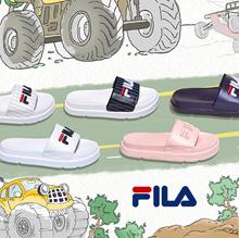 [FILA]Couple Sandals Slipper Drifter Jacked Up Stripes / Drifter Stripes/ Fur Sandals