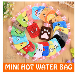 Mini Hot Cold Thermal Water Bag Bottle Pack Flask Pad Bags Ice Winter Cold Portable Cartoon Minion