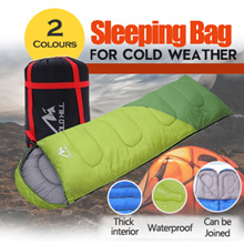 Cold weather sleeping bag for warm winter use compact size for travel big size for comfort sleep