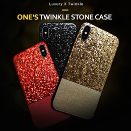 [ONE Driver] Twinkle Stone Case★iPhone X/8/7/6s/Plus/Galaxy Note 8/S8/Plus/S7/Edge//