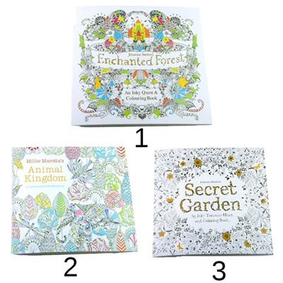 Children Adult Puzzle Secret Garden Treasure Hunt Coloring Painting Book Funny