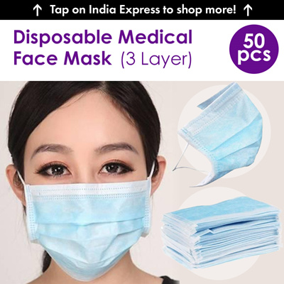 Medical Face Mask Loop Surgical Dust Layers 50pcs - Qoo10 Ear 3