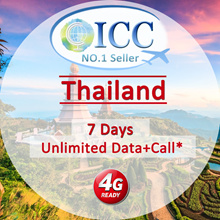 ◆ ICC◆【Thailand Sim Card· 7 Days】❤ Unlimited 4G* data + call ( Same User)❤ Unlimited Data