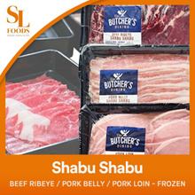 [Best Quality] The Butchers Dining Shabu Shabu - Beef Ribeye / Pork Belly / Pork Loin - Frozen