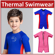 【Free Shipping】Kids Baby Thermal Swimwear Wetsuits UPF 50+ Snorkeling float Keep Warm Swimsuits