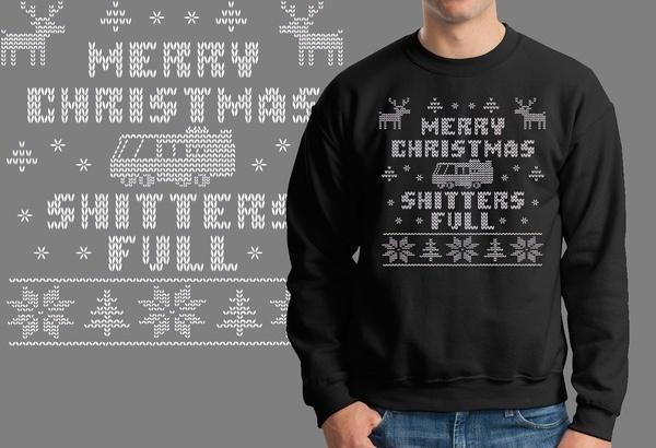 メリークリスマスシッターズフルファニークリスマスアグリーセーターXマスジャージースウェットシャツ