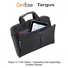 Targus 12.1 inch Classic + Toploading Case Laptop Bag - Durable Polyester