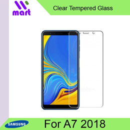 Clear Tempered Glass Screen Protector For Samsung A7 2018