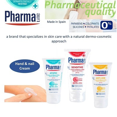 Pharma LineHand and Nails Cream 75 ml Pharmaceutical Quality 0%  Parabens/Colorants/Silicones/Phtalates