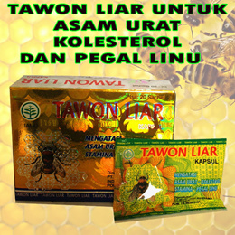 TAWON LIAR ORIGINAL (ASAM URAT KOLESTEROL) BOTOL ISI 40 KAPSUL