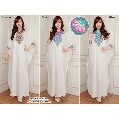 Elegant white 3-pink