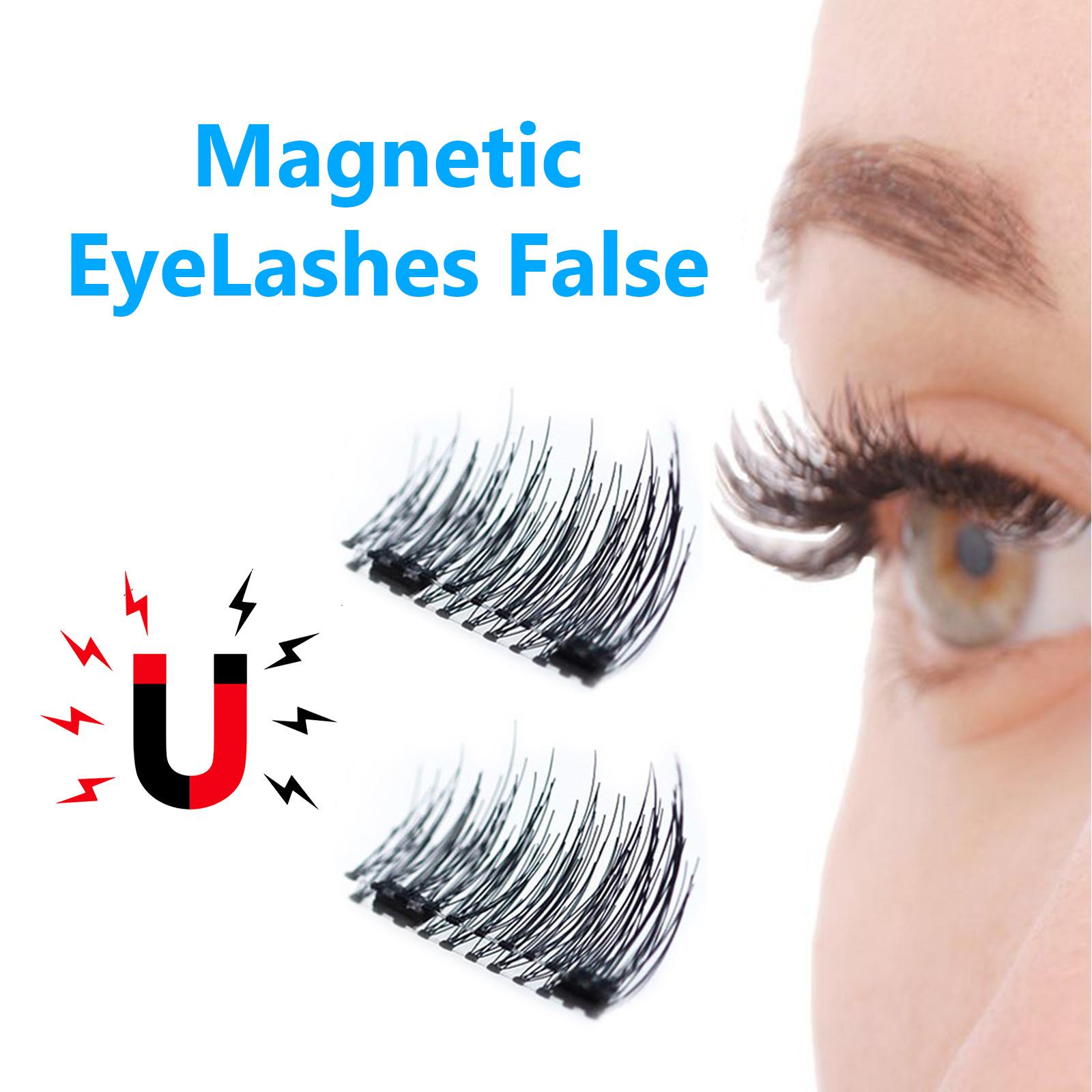 514ab4c1bf5 fit to viewer. prev next. 4Pcs/Pair Magnetic 3D Eyelashes Double Handmade Natural  False Long Eye Lash Reusable