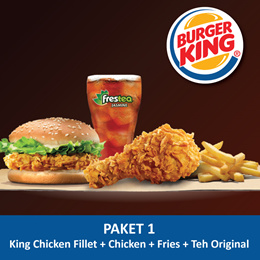 [FOOD] King Chicken Fillet + Fries (R)+Chicken+Jasmine tea (R) /Burger King
