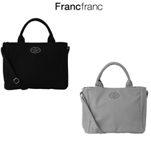 francfranc [Francfranc] laid down wave tote eco bag size L / tote / bag / backpack / genuine / gray / navy