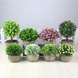 2 Free shipping artificial plants artificial flower pots potted plants living room home furnishing