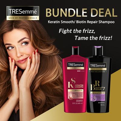 (BUNDLE OF 2) TRESEMME Shampoo (400ml)