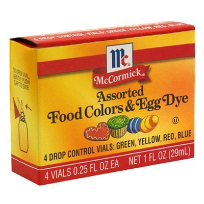 McCormick Food Coloring Egg Dye Four Assorted 1oz Box (Pack of 3)