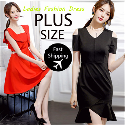 32b29bedf87 2019 New Summer Korean Ladies Fashion Dress Plus Size Collection  Dress   Blouse  Skirt