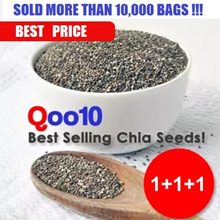 LOWEST EVER!! 1.5 KG SUPER VALUE CHIA SEEDS (1+1+1 Packets - 1500 GRAMS)