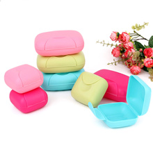 Colourful Candy colour Soap Case Container Holder with Lid Lock Travel Kit Organizer