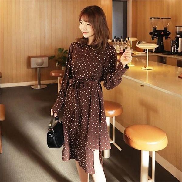 素であるトゥレンチェドトゥオンバルワンピースnew プリントワンピース/ワンピース/韓国ファッション