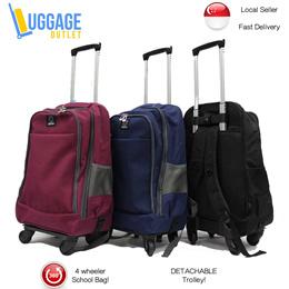 ★Detachable Trolley Schoolbag★ 2-in-1 Detachable Trolley Backpack / School Bags / 4 Wheeler