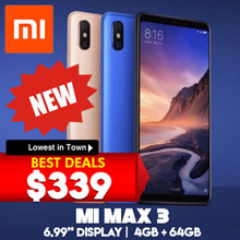 [NEW MODEL] Xiaomi Mi Max 3 // 6.99in display // 4GB + 64GB // 6GB + 128GB / Export set / Global rom