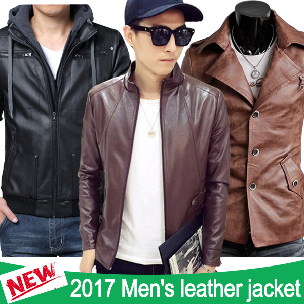 2017 Men Outerwear / Leather jacket / Casual suits / Baseball jacket / PU leather / Fashion Coat Deals for only RM270.93 instead of RM270.93