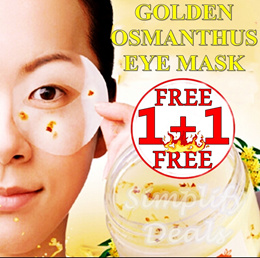 (BUY 1 FREE 1 - MIX AND MATCH) LIMITED 100 QTY - OSMANTHUS ROSE CUCUMBER EYE/FACE MASK