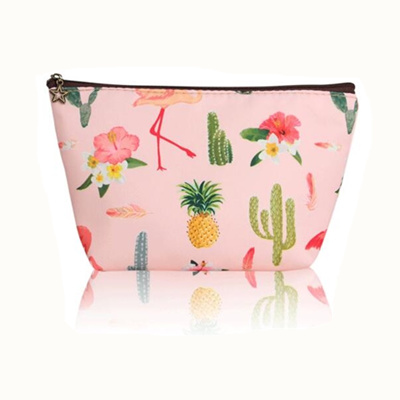 bdba5361dc43 Travel Cosmetic Bag Women Fresh Flower Printing Makeup Case Organizer Set  Girls Necessaries Beauty