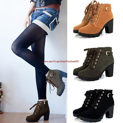 Fashion Korea Style Women Martin Boots high heel boots Knight boots  Motorcycle boots Female Winter W