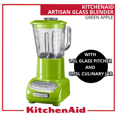 qoo10 artisan glass blender with 1 5 l glass pitcher and 0 75 l