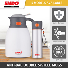 *Promo* Endo Double Layered Stainless Steel Mugs / Attractive colours / 5 MODELS AVAILABLE!