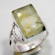 Prehnite Silver Plated Handmade Jewelry Ring Size 9.25  A22[CAF0000956]