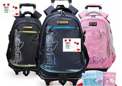 Children trolley bags primary school students schoolbag men and women grades 3-4-3 Deals for only S$125.96 instead of S$0