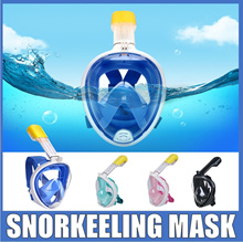 Full Face Snorkeling Mask / Diving Mask [The Cheapest Price in  Qoo10]