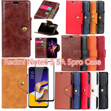 Redmi Note6 / note5 / note5A / note 5pro Leather Case / KACA penuh