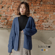 TOKICHOI - Knitted Cardigan without Buttons-181855-Winter