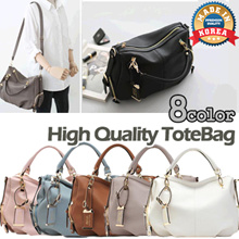 [Made in Korea] High Quality Classy Ladies Tote Shoulder Bag // 8 Colors // Synthetic Leather