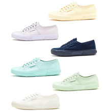 Superga 2750 Cotu Classic Canvas Shoes in Total Blue, Ecru, Mint &amp  Violet