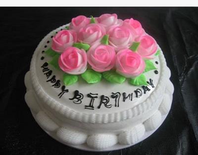 Model Kue Ulang Tahun Produk Display Model Cake Plastik Kue Jendela Simulasi Kue Pengantin 10 Inch