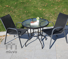 Outdoor dining set / Tempered Glass table and chair set / Balcony use / Water resistant